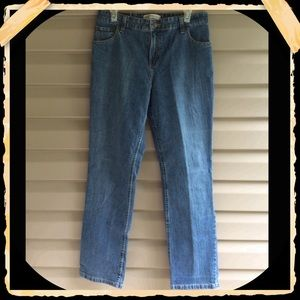 Levi's stretch/mid rise/straight leg jeans
